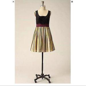 Anthropologie Burlapp Bold Boutonierre Dress small